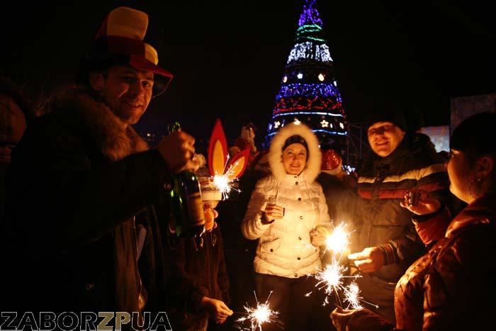 Новый год в Запорожье