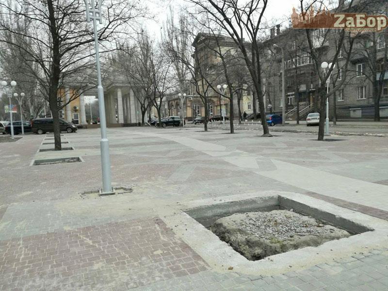 Реконструкция проспекта Маяковского в Запорожье
