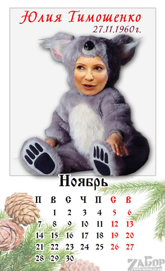 Юлия Тимошенко. Ноябрь