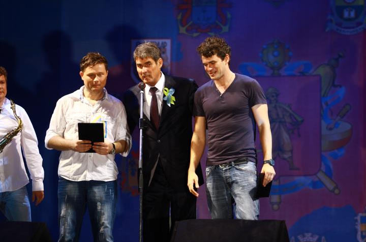 Борис Петров вместе с Ваисилием Логаем и Арсеном Мирзояном