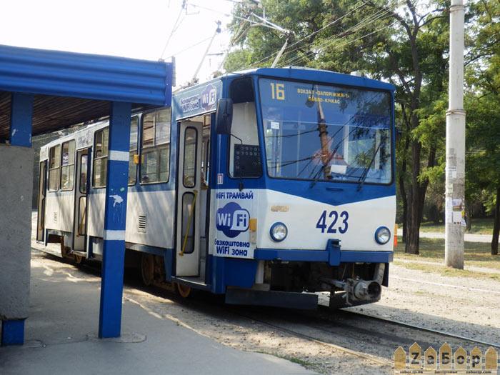Wi-fi трамвай в Запорожье