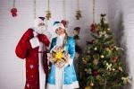 """Дед Мороз и Снегурочка от Семейного центра """"Апельсин"""""""