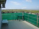 Вид на лиман с балкона номера б/о Бомаба в пгт. Кирилловка