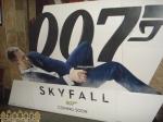 Картонная объемная реклама фильмов в кинотеатре Довженко (Запорожье)